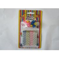 Cheap Non - Toxic Magic Relighting Candles , Disposable Spiral Taper Candles 12Pcs for sale