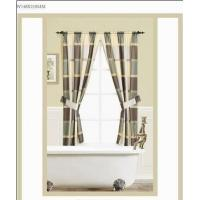 Buy cheap Door Window Panel Curtains With Valance , Burgundy / Green Window Curtains from Wholesalers