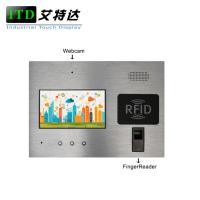 Cheap 7 Inch Industrie Touch Panel Pc With Fingerprinter For Access / Door Control for sale