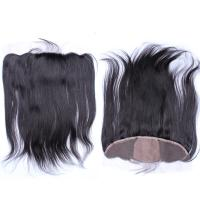 Buy cheap Black Brazilian Straight Silk Base Lace Frontals With Baby Hair Free Part from wholesalers