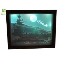 Cheap Retail Paper Cut Box Deep Woods Deer Inverted Image LED Backlit Blue Tooth Accessories for sale