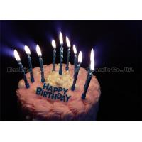 Quality Elegant Gold Blue Cake Candles With 12 Holders Add Birthday Plastic Decoration wholesale