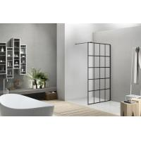 8mm Glass Walk-in Shower Screen with Supporting Bar