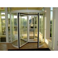 Cheap 3/4 Wings Automatic Revolving Doors with Aluminium Alloy Framed Revolving Exterior Commercial Glass Door for sale
