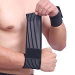 Cheap Cotton Elastic Arthritis Wrist Brace Bandage , Wrist Support For Carpal Tunnel for sale