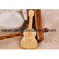 Quality USB Flash Drive Wooden Guitar Pen Drive Maple Wood Pendrive Memory Sticks wholesale
