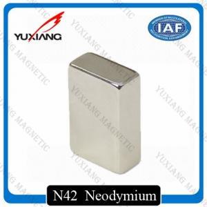 China Coating Nickel N45 Neodymium Magnets Rectangular 20x10x40mm Rare Earth Magnet on sale