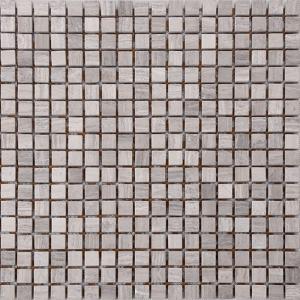 Cheap Wood Grain Stone Mosaic Bathroom Sink Splashback Tiles , Bathroom Countertop Tile Morden Design for sale