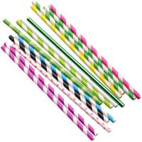Cheap Wood Pulp Waterproof Paper Straws Earth Friendly Various Colors For Festival for sale