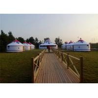 Cheap Heavy Duty All Season Mongonlian Yurt Tent 4 Layer Double PVC Coating Fabric wholesale