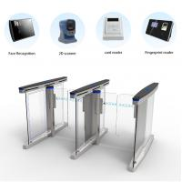 China 304 Stainless Steel Access Control Turnstile Gate High Speed Pedestrian Access on sale