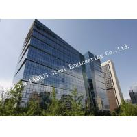 Quality Aluminum Frame Insulation Double Glass Curtain Wall For Commercial Office Building wholesale