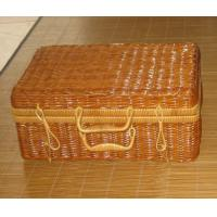 Cheap Bigger sie Rattan Handmade Holiday Picnic Baskets for Two Person Use Pouplar in Europe Countries for sale