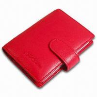 Cheap Card Wallet, Measures 10.5 x 8.5 x 1cm, Various Colors are Available, Made of PVC Leather for sale
