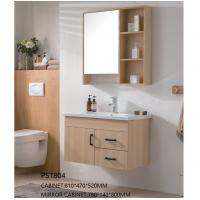 China Pvc Bathroom Vanity With Mirror Cabinet , Wall Mounted Vanity Units CE ISO on sale