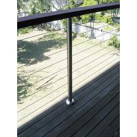 Cheap 316 Stainless Steel Cable Guardrail System Solid Rod Bar Railing Balustrade for sale