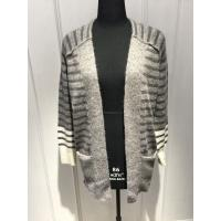 Cheap Stripe Womens Cardigan Sweaters With Wool Nylon Alpaca Material 7 Big Gauge Size for sale