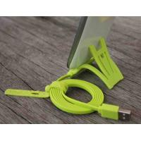 Cheap Green TPE HTC Cell Phone Powered Micro USB Data Cable 2.0 With Sync Data wholesale