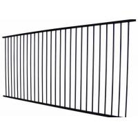China Metal Wrought Iron Zinc Steel Fence Panels 2100 X 2400MM 60*60*1.5 mm on sale