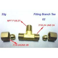 Cheap Tee,Branch 1/4Tube Compression brass x1/8-27 Male Pipe for sale