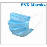 Cheap Anti Spray 3 Ply Surgical Face Mask With Melt Blown Cloth , EN14683 Type I for sale