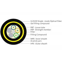 200M Span 12 Core Fiber Cable, Gel Filled Double Layer Loose Tube Fiber Cable