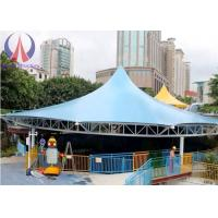 Cheap Modern Universal Fabric Canopy Structures , Park Shade Structures Fabric Covered for sale