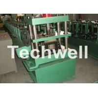 Cheap GCr15 Steel Cable Tray Roll Forming Machine For Storage Rack , Rack Beam 12-15m/min for sale