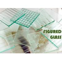 Cheap Rectangle Millennium 4mm Chip Figured Tempered Float Glass Amber for Gymnasium for sale