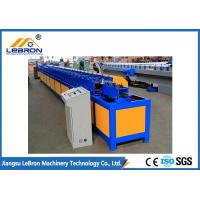 Cheap T Profile Shutter Door Roll Forming Machine GI And GL Material 12~15m/min Forming Speed for sale