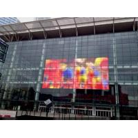 Cheap Decorative Glass Transparentor Customizable Full Color RGB LED Display Curtain Wall for sale