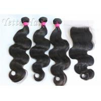 Cheap No Mix No Chemical 100% Brazilian Virgin Hair Deep Wave with Lace Closure for sale