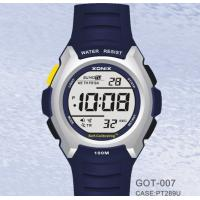 Cheap Male Waterproof Digital Self Calibrating Watches With Alarm Count-Down Timer for sale