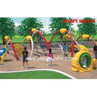 Quality Large Amusement Park Kids Wooden Climbing Frames , Commercial Outdoor Playground wholesale