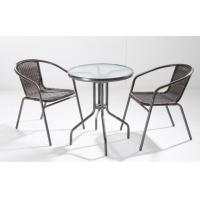 Cheap Rattan Chair With Table Set / Outdoor Weatherproof Rattan Garden Furniture for sale
