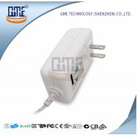 Cheap White 2PIN AC DC Power Adapter , Wall Mount Power Adapter For Home Appliances for sale