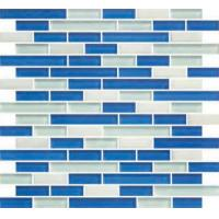 China Brick Shape  Glass Stone Mosaic Tiles For Kitchen Walling on sale