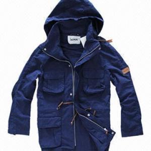 Cheap Fashionable Windbreaker, Unisex Khaki, Navy Lifestyle Jacket/Coat, Softshell Jacket, Detachable Hood for sale