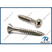 China Marine Grade 316 Stainless Steel Decking Screw for Hardwood, Type 17, Fine Thread on sale