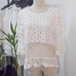 Cheap Fashion  lace  Women Beach Swimwear Coverups ,sarons-Anti-UV, Breathable, Nontoxic, Plus Size, Quick Dry for sale