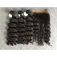 "Cheap 100% Human Hair Weave Brazilian Virgin Hair Loose wave With Frontal 10""-30"" for sale"
