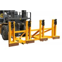 Cheap Black Eager - Gripper Forklift Drum Lifter with Adjusting Height , Bandage Type for sale