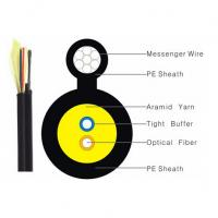 Cheap Black Color FTTH Indoor Drop Cable 1/2/4 Core Figure 8 G652D G657A OM1 OM2 OM3 for sale