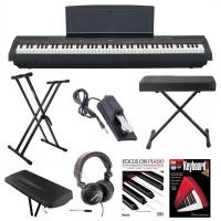 China Yamaha P-125B 88-Key Weighted Action (GHS) Digital Piano (Black) Bundle with Knox Double X Stand Knox Wide Bench Sustain on sale