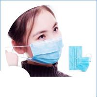 Cheap Anti Virus Safety Breathing Mask / Disposable Face Mask With Elastic Ear Loop for sale