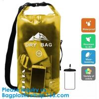 China Colored 15Liter Shiny Clear Window Water Proof Dry Bag Ultralight Outdoor Waterproof Dry Storage Bag For Sports on sale