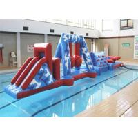 Cheap Funny Kids Sports Inflatable Water Obstacle Course With Safety PVC Tarpaulin for sale