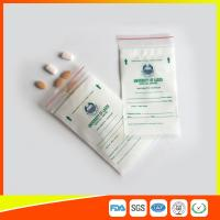 Cheap LDPE Clear Medical Ziplock Pill Bags For Hospital / Drugstore Disposable for sale