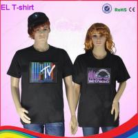 Cheap party must-have flashing rock t-shirt/ woman t-shirt/ man t-shirt with different design for sale