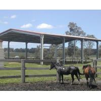 Cheap Temporary Steel Frame Storage Buildings , Waterproof Agricultural Farm Buildings for sale